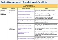 Project Management - Templates, Checklists and Tips | IT Process Wiki