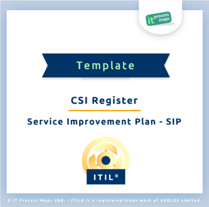Checklist Service Improvement Plan SIP - CSI Register